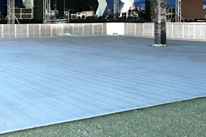 Modular flooring at Crowd Barriers WA