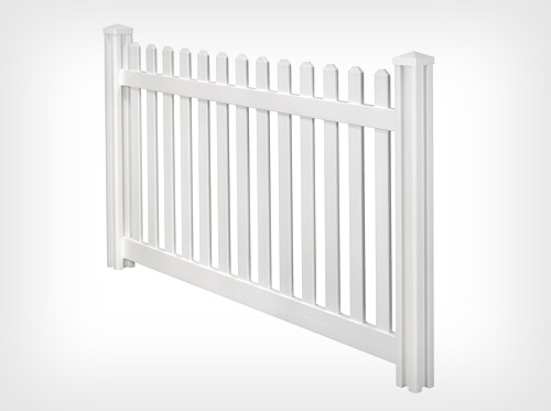 PVC picket temporary fence